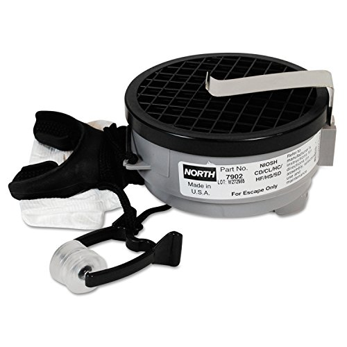 Honeywell 7902 North Silicone 7900 Series Mouthbit Acid Gas Air Purifying Respirator with Belt Clip