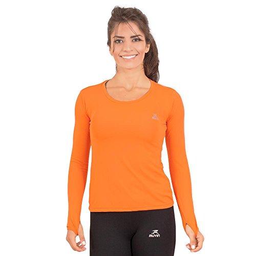 Camisa Running Performance G1 Uv50 Ls/hc - Muvin - Clr-400 - Laranja - P