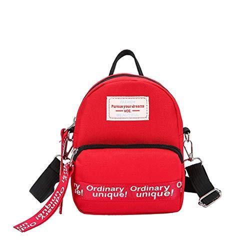 Dasongff Mini-rugzak, dames, elegante schoudertas, mini-schooltas, boodschappentas, schoudertas, kleine schoudertas, dames, vrouwen, schoudertas, crossbody tas F rood