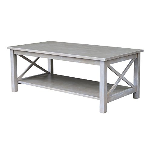 International Concepts Hampton Coffee Table, Washed Gray Taupe