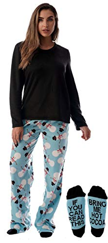 Just Love Womens Microfleece Pajama Pants Set with Socks 6734-10331-S