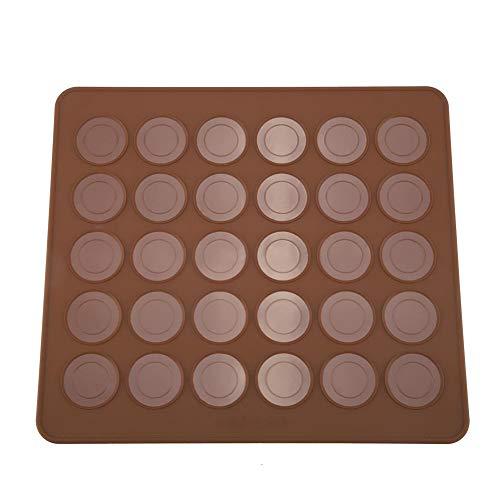 Alfombrillas De Silicona Para Hornear, Molde Para Galletas, Molde Para Muffins, Chocolate, Capacidad 30, 28 X 25 cm