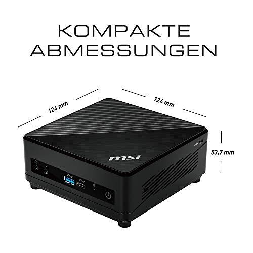 MSI Cubi 5 10M-047DE Mini-PC (Intel Core i7-10510U, 256GB SSD, 8GB DDR4, Windows 10 Pro, externe Power-Switch) schwarz