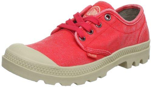 Palladium Pampa Oxford M, Náuticos para Mujer, Rojo - Rot (Cayenne Red), 41 EU