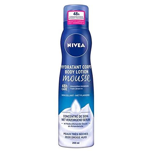 Nivea BodyLotion Mousse mit pflegendem Serum für sehr trockene Haut - 3er Pack (3 x 200ml)