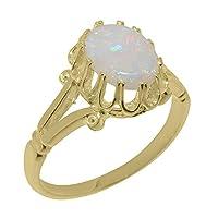 英国製(イギリス製) K9 イエローゴールド 天然 オパール レディースソリティア リング 指輪 各種 サイズ あり