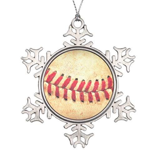 LilithCroft99 Bola de béisbol Vintage Copo de Nieve Adornos de Navidad 2018 Petwer árbol de Navidad Decoraciones Colgantes