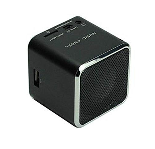 Mini Music Angel JH-MD07U - Altavoces Digitales para teléfono móvil, PC, Compatible con Disco USB, Tarjeta Micro SD/TF, Reproductor de MP3, Radio FM