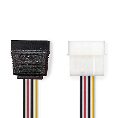 Interne Voedingskabel Molex Male - SATA 15-Pins Female 0,15 m Diverse