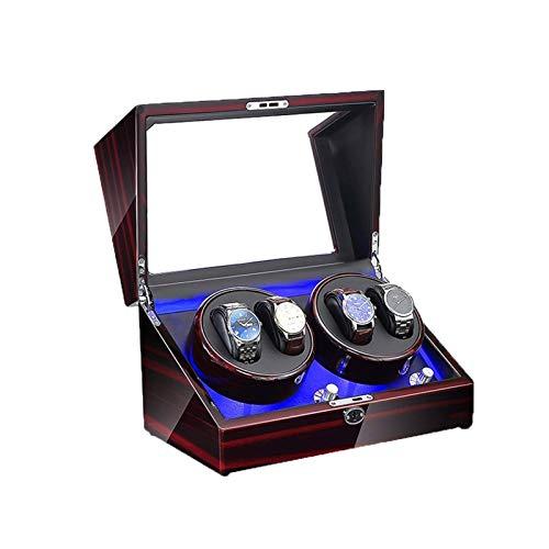 zyy Automatico Watch Winder, Motor Silencioso 5 Modos de Rotación 4 Relojes Almacenamiento Caja de Vitrina (Color : C)