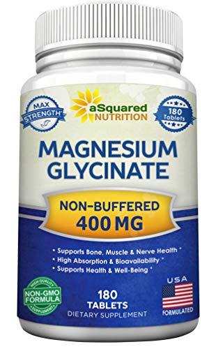 Magnesium Glycinate 400mg - 180 Tab…