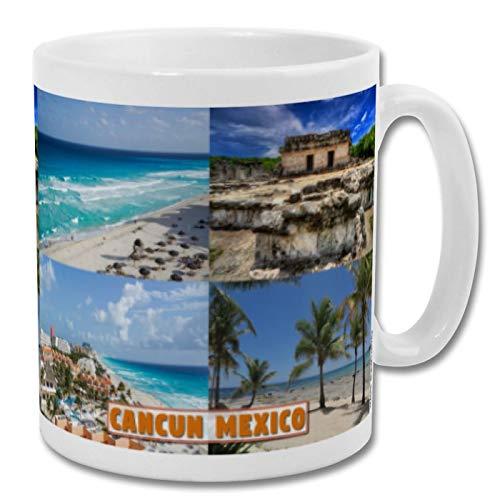 Cancun Mexico - Taza de recuerdo de 10 onzas