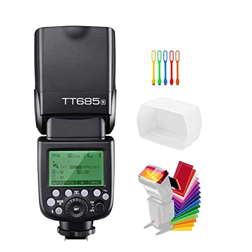 GODOX TT685N TTL 2.4G GN60 High-Speed Sync 1/8000s Wireless Master Slave Off Flash Speedlite Speedlight Compatible for Nikon Cameras I-TTL II autoflash