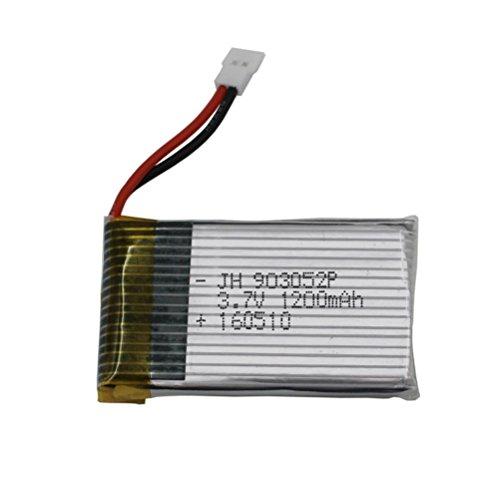 Upgrade 3.7V 1200MAH Battery for Syma X5 X5C X5SC X5SW-1 X5SW (Black)