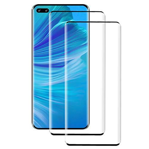 PUUDUU [2 Piezas] Cristal Templado para Huawei P40 Pro, Cobertura Completa, Resistente a Los Arañazos, Sin Burbujas, Película Protectora de Vidrio Templado para Huawei P40 Pro