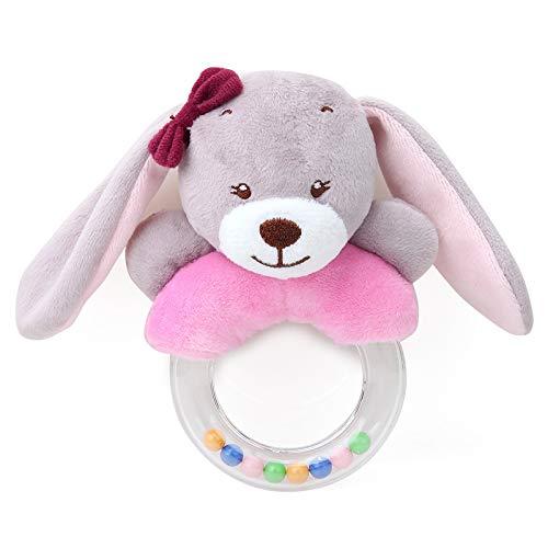 Shiwen Lindo creativo de dibujos animados conejo zorro ovejas anillo mano campana bebé peluche juguete