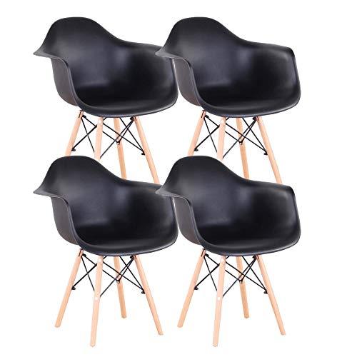 Uderkiny Conjunto de 2 4 sillas de Comedor
