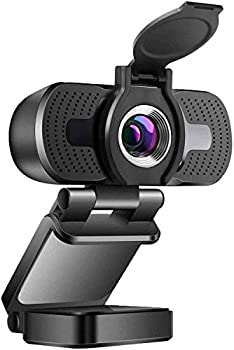 1080P Webcam with Microphone & Privacy Cover Web Cam USB Camera for PC Laptop Desktop Computer HD Streaming Webcam for Zoom YouTube Skype Wide Angle Auto Light Correction Windows Mac OS