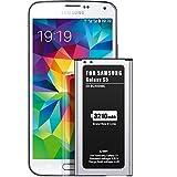 EMNT-Batería para Samsung Galaxy S5 de recambio mejorado 3210 mAh para batería S5 última tecnología