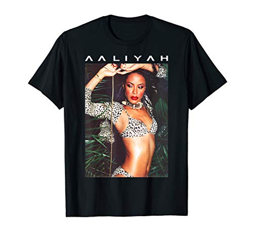 Aaliyah Animal Print Aaliyah Photo T-Shirt
