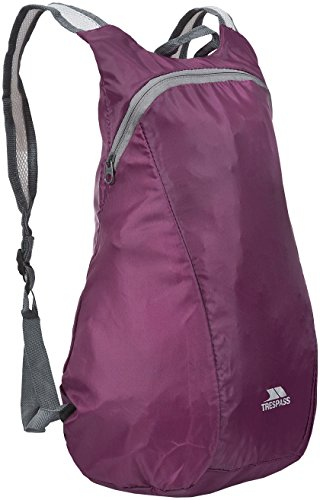 Trespass Reverse, Grape Wine, Compact Foldable Backpack / Rucksack 15L, Red