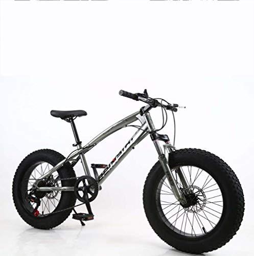 AISHFP Fat Tire Mens Mountain Bike, Doppio Freno a Disco in Acciaio /-Alto tenore di Carbonio Telaio Cruiser Bikes, Spiaggia motoslitta Bicicletta, 26 Pollici Ruote,I,27 Speed