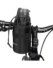 HIKENTURE Stuurtas voor drinkfles, geïsoleerde fietstas met flessenhouder, koeltas, thermotas, flessentas voor waterfles, bidonhouder op het stuur, 1