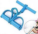aiMaKE Cuerda de Tensión Multifunción, 4 Tubos, Cuerda para ejercitar piernas, Equipo De...