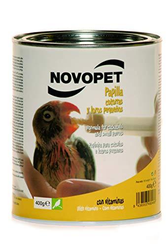 Novopet A-15990 Papilla Loros y Cotorras - 400 gr