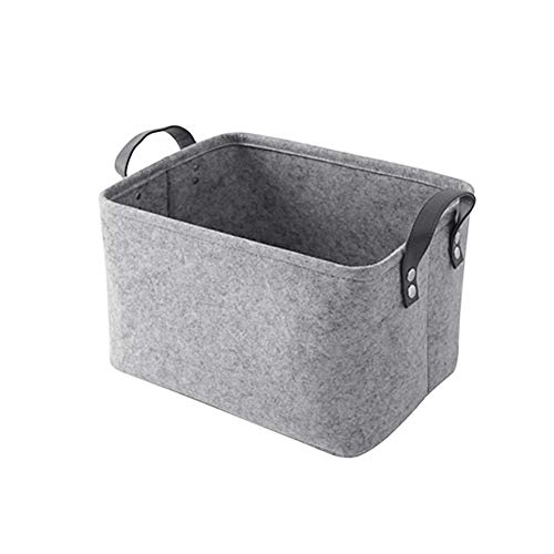 JIUJ Wasmand Opvouwbaar Duurzaam Grijs Vilt Doek Handheld Mand Vuil Kleding Mand Collectie Box Collectie Box Afwerkingsdoos