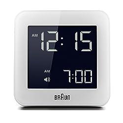 Braun BNC009WH Digital Quartz Alarm Clock