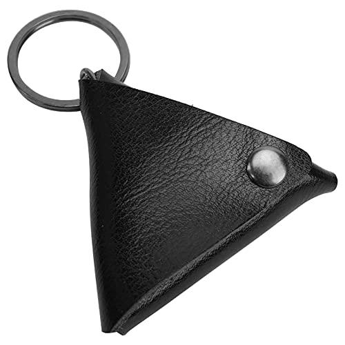 Tenedor de la púa de la guitarra, portátil durable de la caja de la púa de la guitarra para el almacenamiento de la púa(black)