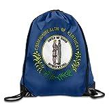 Etryrt Mochilas/Bolsas de Gimnasia,Bolsas de Cuerdas, Kentucky State Flag Cool Gym Drawstring Bags Travel Backpack Tote School Rucksack