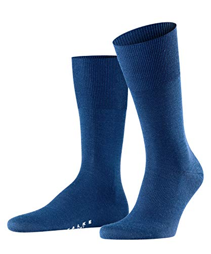 FALKE Herren Socken Airport - Merinowoll-/Baumwollmischung, 1 Paar, Blau (Royal Blue 6000), 43-44
