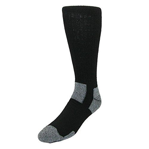 Jefferies Socks Arbeitssocken für Männer (2-Pack) X-Groß Schwarz