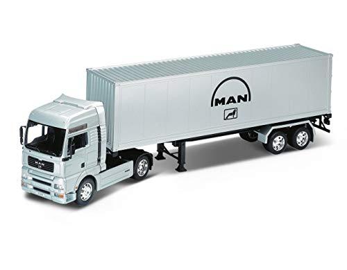 Welly Man TG510A - Camión Coleccionable de Juguete (Escala 1/32°, 810705), Color Gris