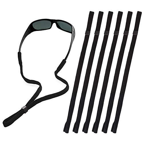 Black Glasses Strap, Sunglasses & Eyeglasses Holder Straps for Men Women Kids Sports, Eye Glasses String Holder, Glasses Neck Lanyard Cord, Adjustable Rope Eyewear Retainer