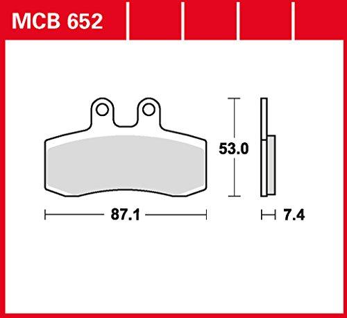 Bremsbelag Lucas MCB652 für Pegaso 650 GA | MZ Baghira 660 | MZ Baghira 660 Black Panther | MZ Mastiff 660 | MZ Supermoto 660 | MZ Supermoto 660 S