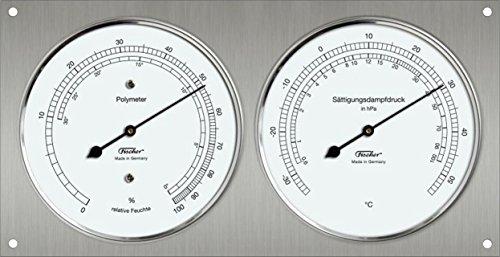 Polymeter - Haar-Hygrometer kombiniert mit Thermometer - 240 x 130 mm