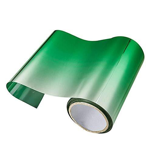 lennonsi Auto Folie UV Shade DIY Aufkleber Banner Schwarz/Grün Aluminiumfolie Sonnenschutzfolie Frontscheibenfolie Solar Autofenster Sonnenblende Streifentönung 150×20CM