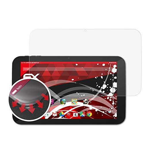 atFolix Schutzfolie kompatibel mit Trekstor SurfTab Xiron 10.1 3G Folie, entspiegelnde & Flexible FX Bildschirmschutzfolie (2X)
