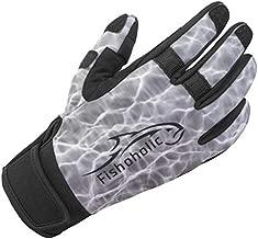 Fishoholic Cold Weather Fishing Gloves w' Super Grip for Men and Women Winter Kayaking Paddling Biking Hiking Rowing or Taking Photos (R) Fishaholic (Black, L)