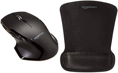 Amazon Basics Full-Size Ergonomic Wireless PC Mouse with Fast Scrolling