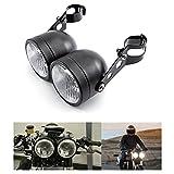 Faros de motocicleta Faros delanteros dobles con soporte para Bobber Chopper Cafe Racer