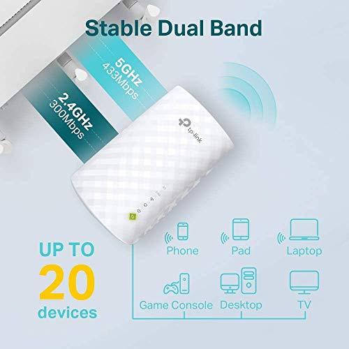 Product Image 1: TP-Link AC750 WiFi Extender (RE220), Covers Up to 1200 Sq.ft and 20 Devices, Up to 750Mbps Dual Band WiFi Range Extender, WiFi Booster to Extend Range of WiFi Internet Connection