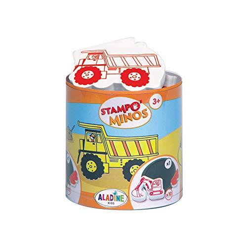 Aladine 3085127 - Stampo Minos Baustelle, 11-teilig