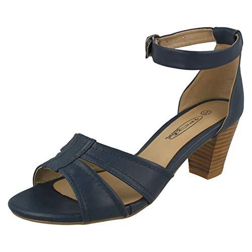 Spot On Damen-Sandalen, Blau - marineblau - Größe: 38 EU