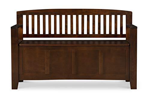 "Product Image 5: Linon Home Dcor Linon Home Decor Cynthia Storage Bench, 50""w x 17.25″d x 32″h, Walnut"