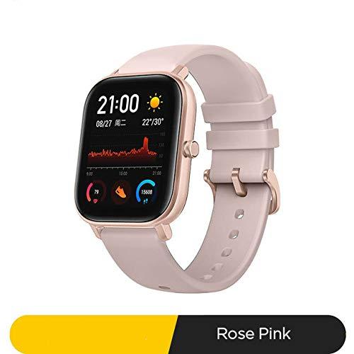 slim horloge,Smart Watch 5atm Waterproof Swimming Smartwatch 14 Dagen Batterij Muziekbediening Voor Android-telefoon a Rose roze