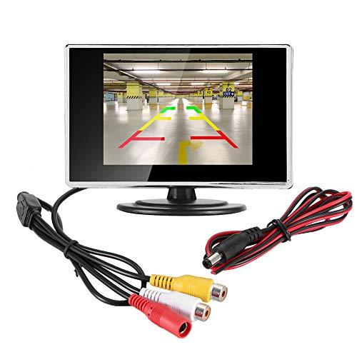Monitor de pantalla de coche Dispositivo de monitor de pantalla LCD de 3,5 pulgadas para coche, autobús, camión, barco, cámara de visión trasera inversa
